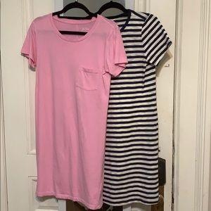 JCrew and Old Navy T-shirt Dress Bundle